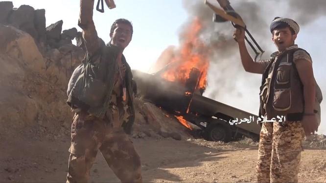 Lực lượng Houthi chiến đấu trên chiến trường Ả rập Xê-út.
