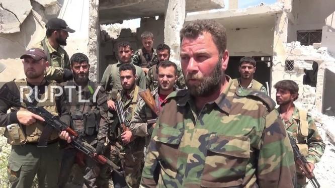 Binh sĩ sư đoàn Tiger trên chiến trường miền bắc Hama. Ảnh minh họa Masdar News