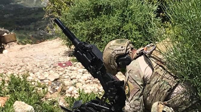 Các cố vấn quân sự, lính đánh thuê Nga của công ty quân sự tư nhân trên chiến trường Hama. Ảnh South Front