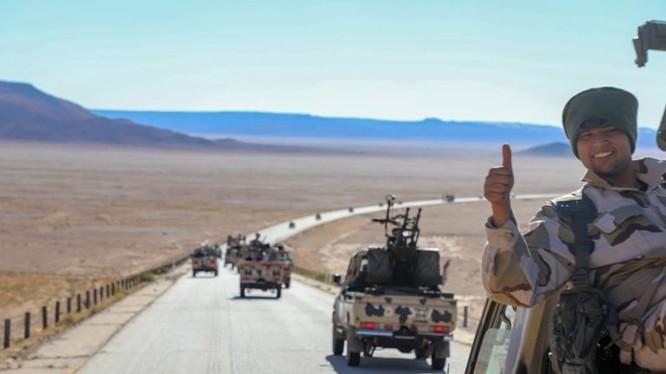 Lực lượng tăng cường quân đội Quốc gia LNA Libya tiến về thủ đô Libya, thành phố Tripoli. Ảnh minh họa South Front