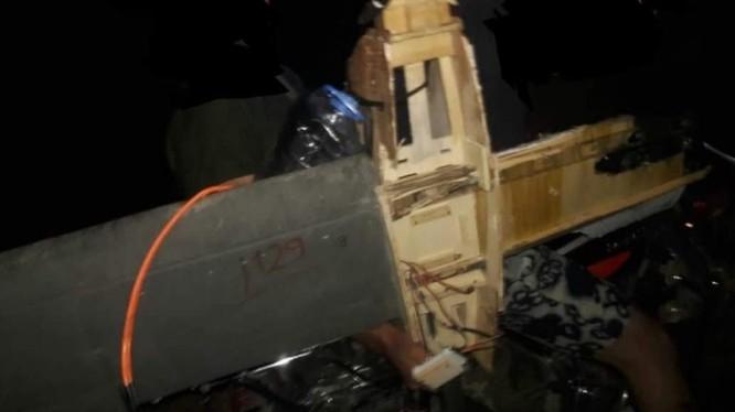 Một máy bay không người lái của lực lượng Hồi giáo cực đoan bị bắn rơi ở Hama. Ảnh South Front