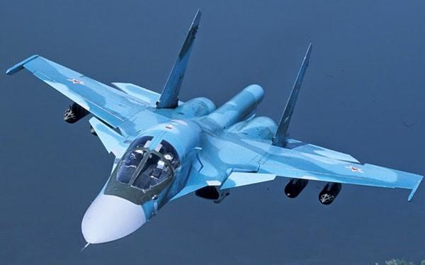 Máy bay ném bom chiến trường Su-34 Vịt con Nga tại Syria. Ảnh minh họa South Front