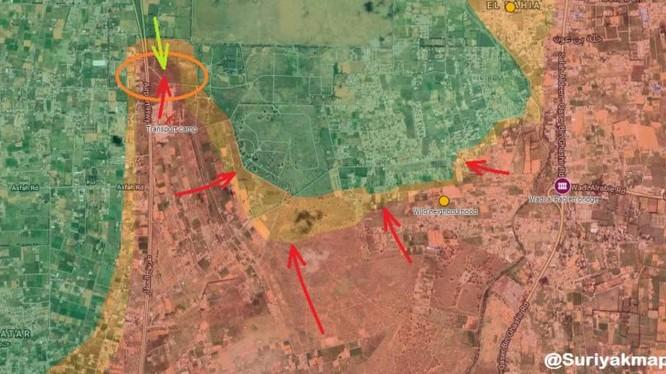 Các mũi tấn công của lực lượng Quân đội Quốc gia Libya LNA vào Tripoli. Ảnh bản đồ South Front