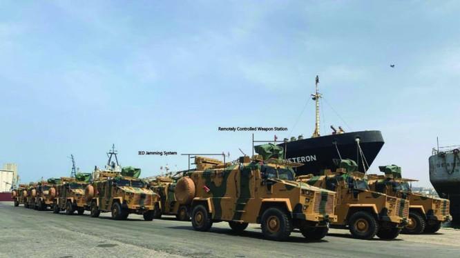 Các xe thiết giáp do Thổ Nhĩ Kỳ cung cấp cho lực lượng GNA ở Tripoli. Ảnh minh họa South Front