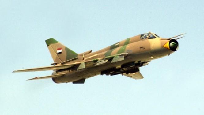Máy bay cường kích Su-22M không quân Syria. Ảnh minh họa Masdar News