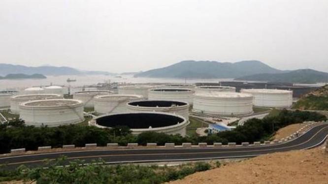 Cơ sở dự trữ dầu mỏ quốc gia Chu Sơn. Ảnh: Sina
