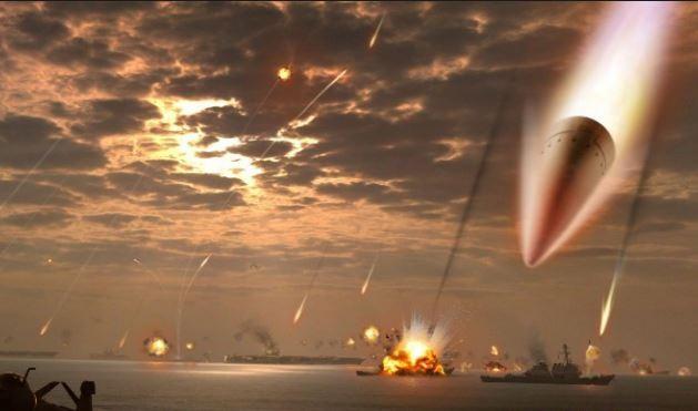 Ảnh tưởng tượng của dân mạng Trung Quốc về sức mạnh tên lửa Đông Phong 21D.