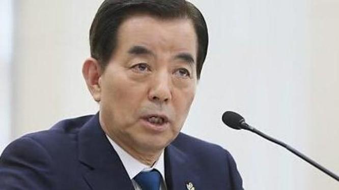 Bộ trưởng Quốc phòng Hàn Quốc Han Min-koo. Ảnh: Báo Phượng Hoàng, Hồng Kông.