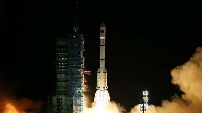 Tối ngày 15/9/2016, Trung Quốc phóng thành công Trạm thử nghiệm không gian Thiên Cung 2. Ảnh: Tân Hoa xã