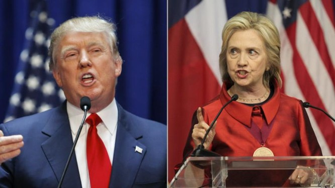 Hai ứng cử viên Tổng thống Mỹ Donald Trump và Hillary Clinton. Ảnh: CBS