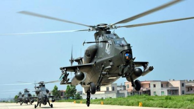 Máy bay trực thăng vũ trang Tập đoàn quân 1 Lục quân Trung Quốc. Ảnh: Guancha