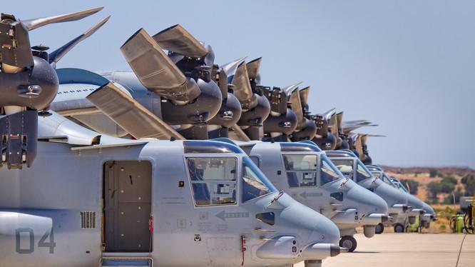 Trực thăng vận tải cánh xoay V-22 của quân đội Mỹ (ảnh minh họa).