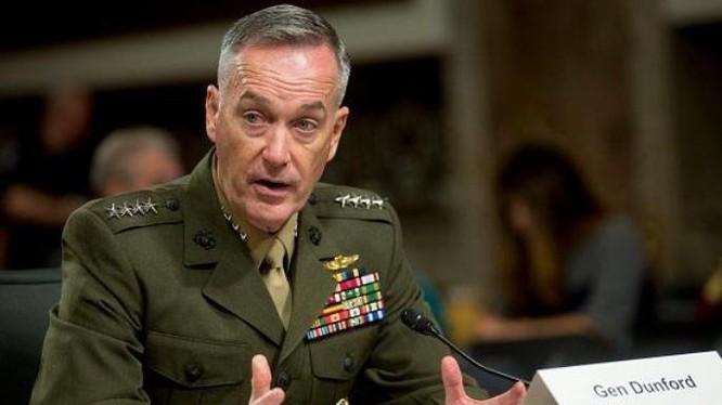 Tướng Joseph Dunford, Chủ tịch Hội đồng Tham mưu trưởng Liên quân Mỹ. Ảnh: ibtimes