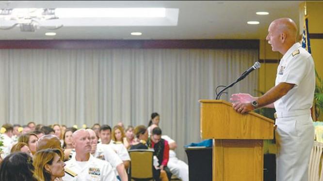 Đô đốc Scott Swift, Tư lệnh Hạm đội Thái Bình Dương, Hải quân Mỹ. Ảnh: hookelenews