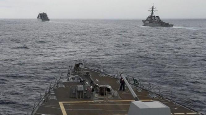 Tàu khu trục USS Decatur Hải quân Mỹ vừa tiến hành tuần tra Biển Đông. Ảnh: Fox News