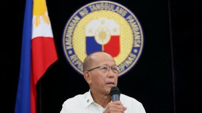 Bộ trưởng Quốc phòng Philippines, Delfin Lorenzana (ảnh tư liệu)