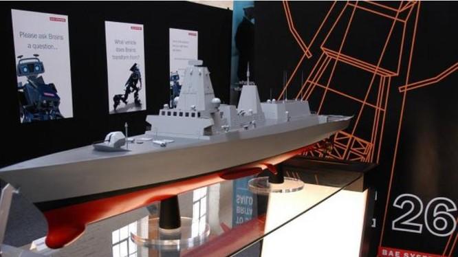 Mô hình tàu hộ vệ Type 26 Anh. Ảnh: Cankao
