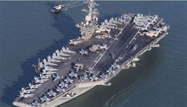 Tàu sân bay động cơ hạt nhân USS Theodore Roosevelt Hải quân Mỹ (ảnh tư liệu)