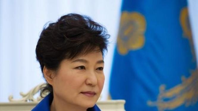 Tổng thống Hàn Quốc Park Geun-hye. Ảnh: Bloomberg