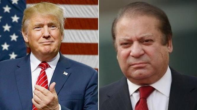 Tổng thống đắc cử Mỹ Donald Trump và Thủ tướng Pakistan Nawaz Sharif. Ảnh: Sindh News Online