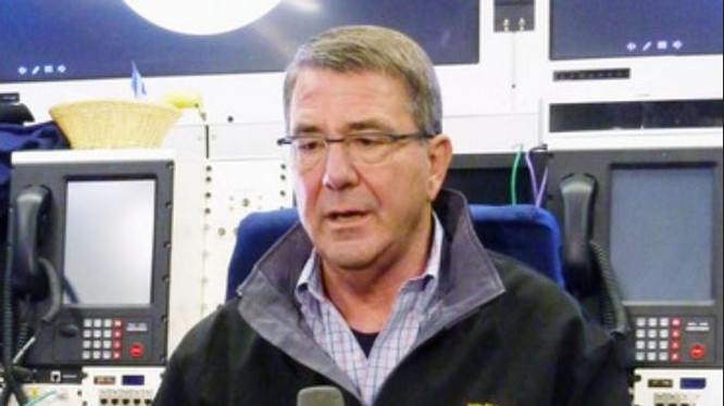 Bộ trưởng Quốc phòng Mỹ Ashton B. Carter. Ảnh: Kyodo News