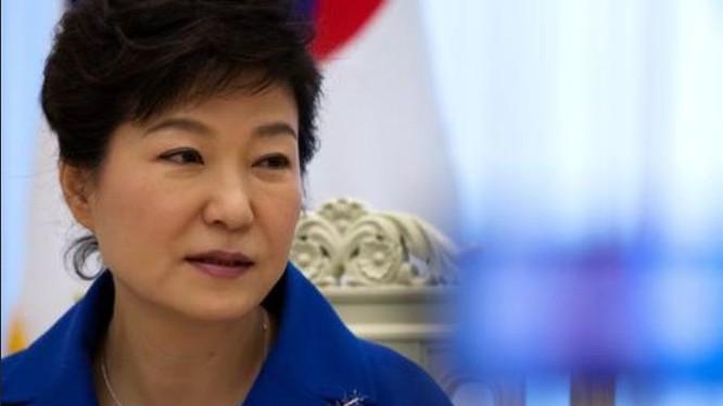 Tổng thống Hàn Quốc, bà Park Geun-hye. Ảnh: Bloomberg