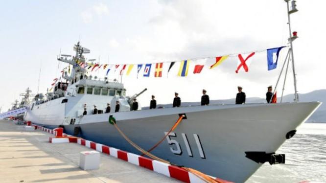 Tàu hộ vệ hạng nhẹ Bảo Định số hiệu 511 Type 056 Trung Quốc. Ảnh: Cankao