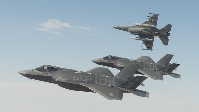 Máy bay chiến đấu F-35 Mỹ. Ảnh: Thời báo Hoàn Cầu