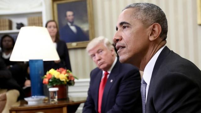 Tổng thống Mỹ Barack Obama và ông Donald Trump.
