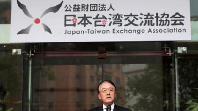 Đại diện Hiệp hội giao lưu Nhật Bản - Đài Loan, ông Mikio Numata tại buổi lễ ra mắt ngày 3/1/2016. Ảnh: SRN News