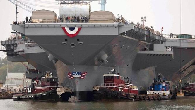 Tàu sân bay động cơ hạt nhân thế hệ mới Gerald R. Ford CVN-78 Mỹ. Ảnh: US Navy