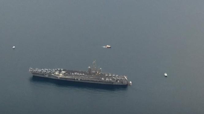 Tàu sân bay USS Carl Vinson Hải quân Mỹ. Ảnh: University Flying Club
