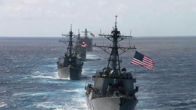 Hạm đội Mỹ. Ảnh: Cankao