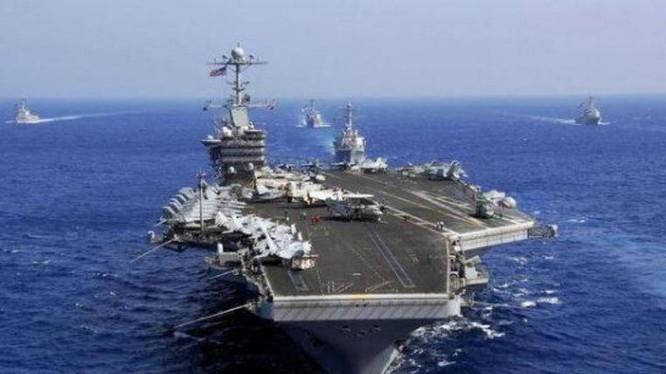 Cụm tấn công tàu sân bay USS John C. Stennis, Hải quân Mỹ. Ảnh; Cankao