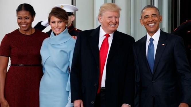 Ngày 20 tháng 1 năm 2017, ông Donald Trump nhậm chức Tổng thống Mỹ, ông Barack Obama rời nhiệm sở. Ảnh: Indian Express