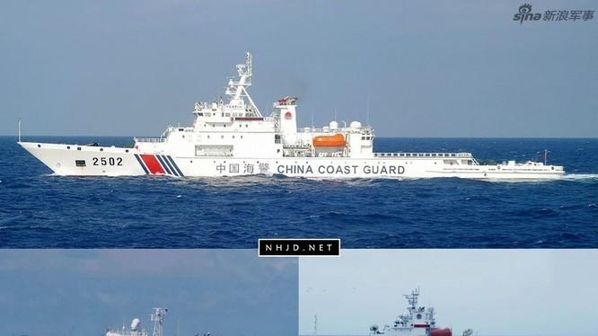 Tàu cảnh sát biển Trung Quốc xâm nhập vùng biển đảo Senkaku. Ảnh: Sina