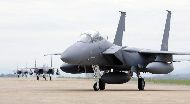 Máy bay chiến đấu F-15K Mỹ (ảnh tư liệu)