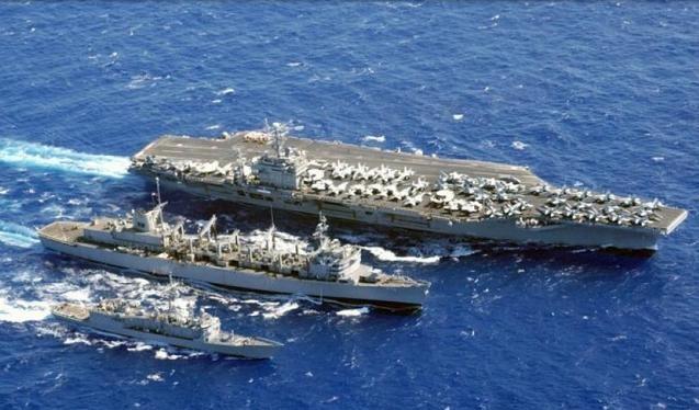 Cụm tấn công tàu sân bay động cơ hạt nhân USS Carl Vinson Hải quân Mỹ (ảnh tư liệu)