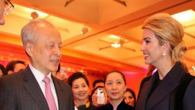 Ivanka Trump, con gái Tân Tổng thống Mỹ Donald Trump tham dự một hoạt động chúc mừng năm mới được Đại sứ quán Trung Quốc tổ chức. Ảnh: Cri