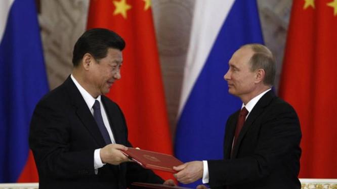 Chủ tịch Trung Quốc Tập Cận Bình và Tổng thống Nga Vladimir Putin (ảnh tư liệu)