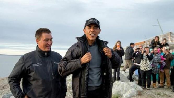 Năm 2015, Tổng thống Mỹ Barack Obama khi đó đã đến thăm Bắc Cực. Ảnh: Sina