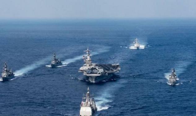 Cụm tấn công tàu sân bay Mỹ. Ảnh: Thời báo Tài chính Anh