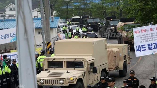 Mỹ nhanh chóng hoàn thành triển khai THAAD ở Hàn Quốc. Ảnh: Sina