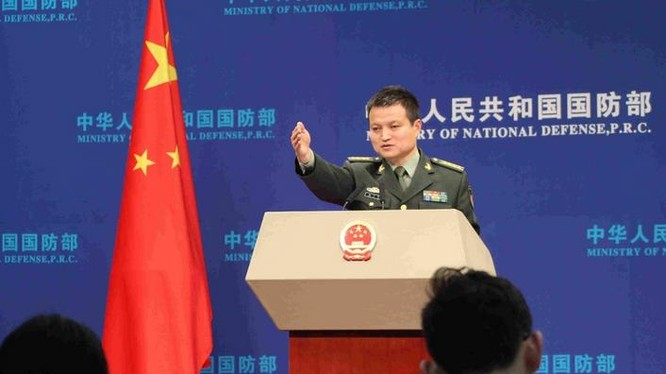 Người phát ngôn Bộ Quốc phòng Trung Quốc, Đại tá Dương Vũ Quân. Ảnh: Tân Hoa xã