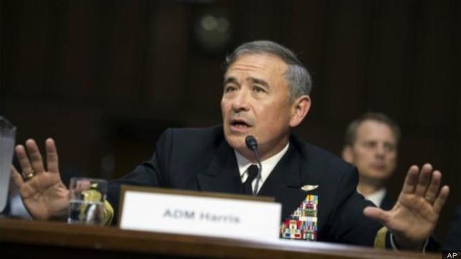 Đô đốc Harry Harris, Tư lệnh Bộ Tư lệnh Thái Bình Dương, Quân đội Mỹ. Ảnh: AP