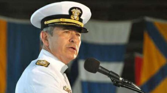 Đô đốc Harry Harris, Tư lệnh Bộ Tư lệnh Thái Bình Dương Mỹ. Ảnh: Sina