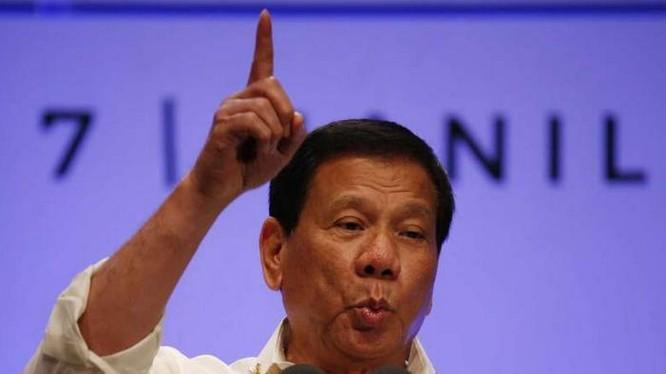Tổng thống Philippines Rodrigo Duterte. Ảnh: San Francisco Chronicle