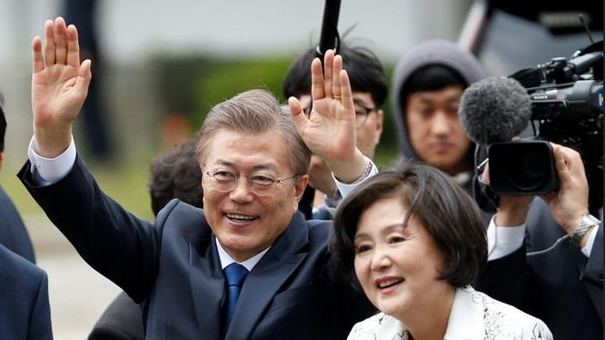 Tân Tổng thống Hàn Quốc và phu nhân
