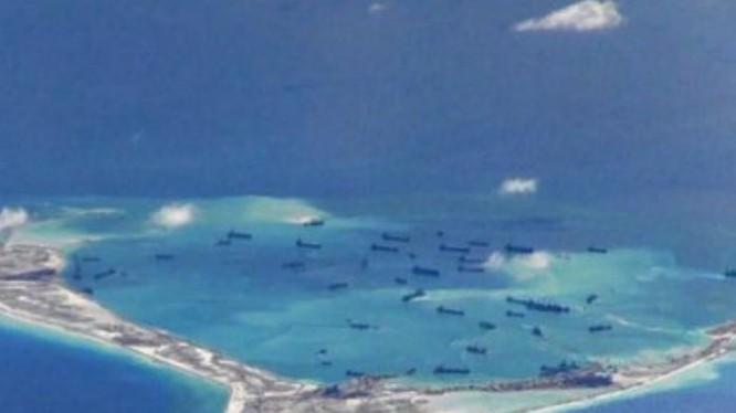Trung Quốc bồi lấp, xây dựng đảo nhân tạo phi pháp ở Biển Đông khiến khu vực căng thẳng, cộng đồng quốc tế lo ngại