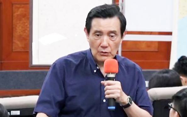 Cựu lãnh đạo Đài Loan Mã Anh Cửu tại Đại học Đông Ngô, Đài Loan. Ảnh: ANNTW